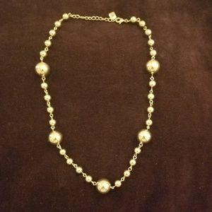Banana Republic Gold Beaded Necklace